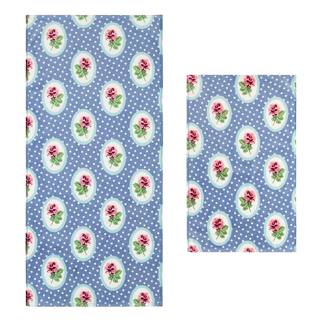 Handtuch Pretty Roses – 100% Baumwolle steelblue – 002 – Gästetuch: 40 x 60 cm, Vossen günstig kaufen