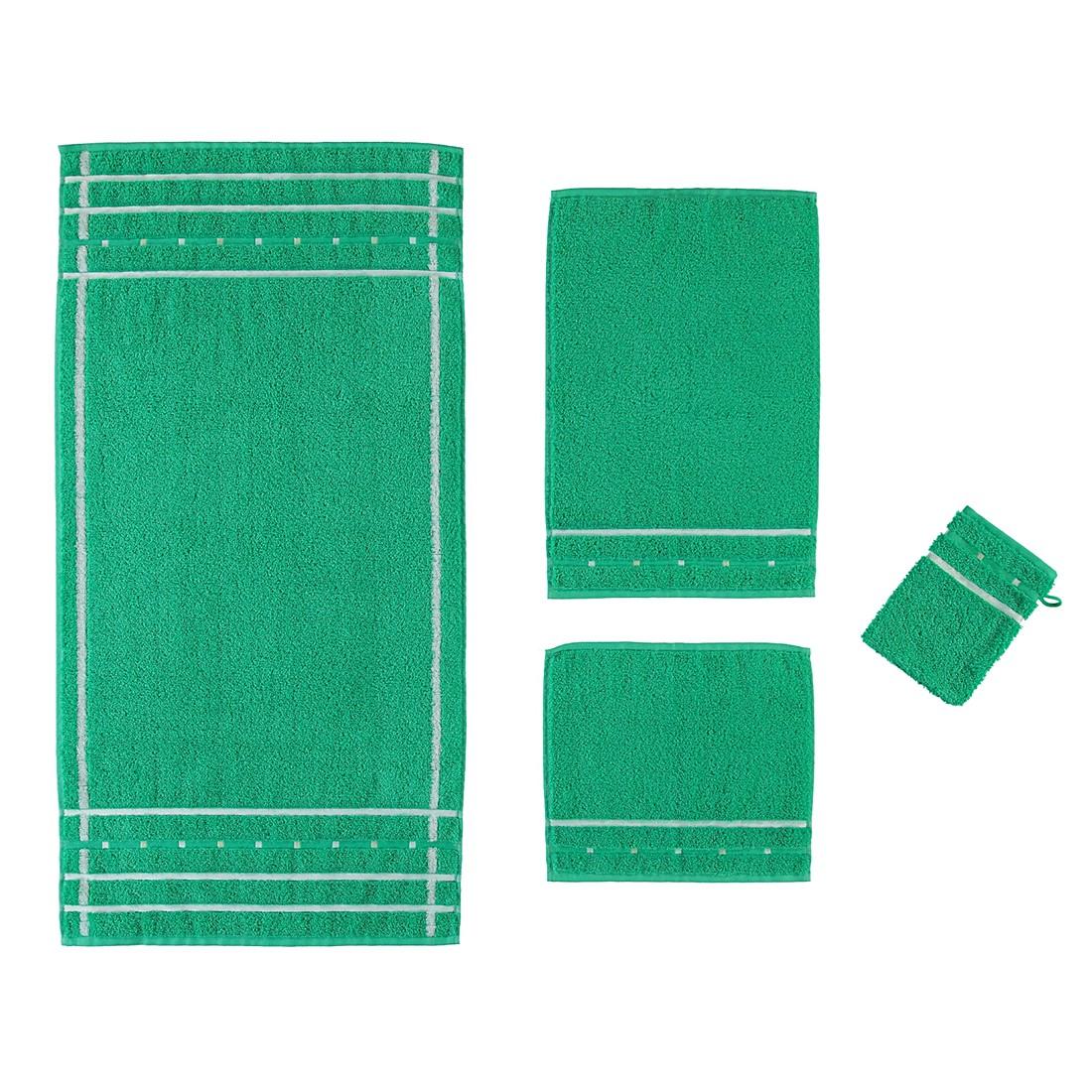 Handtücher Quadrati – Baumwolle – Emerald/Weiß – Handtuch 50×100 cm, Vossen bestellen