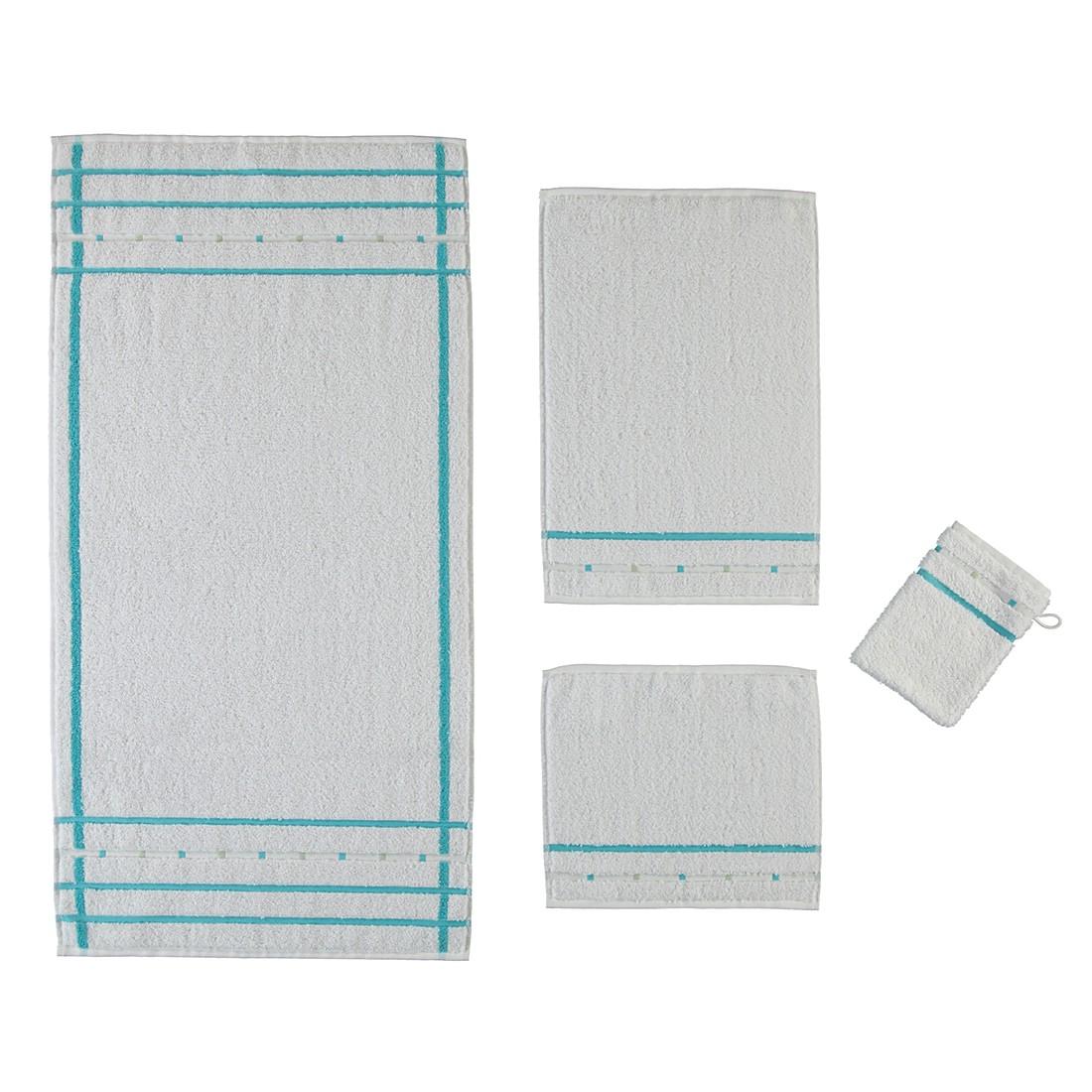 handt cher quadrati baumwolle wei light azure duschtuch 67x140 cm vossen g nstig online
