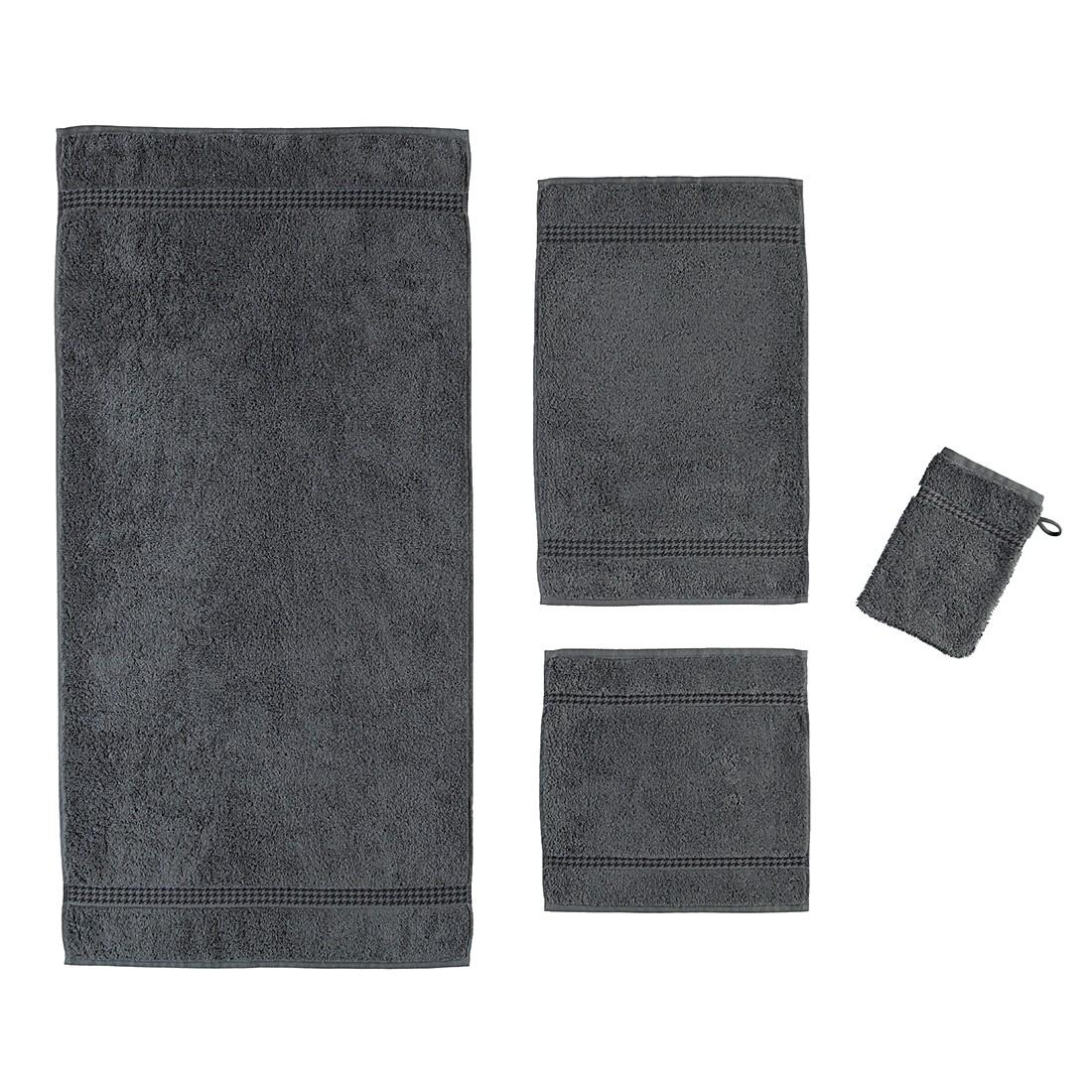 handt cher selection uni 4010 baumwolle anthrazit g stetuch 30x50 cm caw g nstig. Black Bedroom Furniture Sets. Home Design Ideas