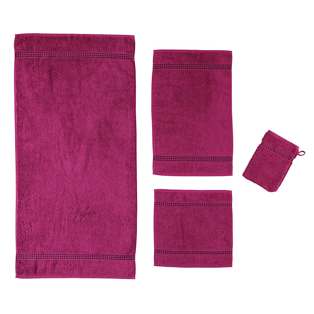Handtücher Selection Uni 4010 – Baumwolle – Fuchsia – Seiflappen 30×30 cm, Cawö online kaufen