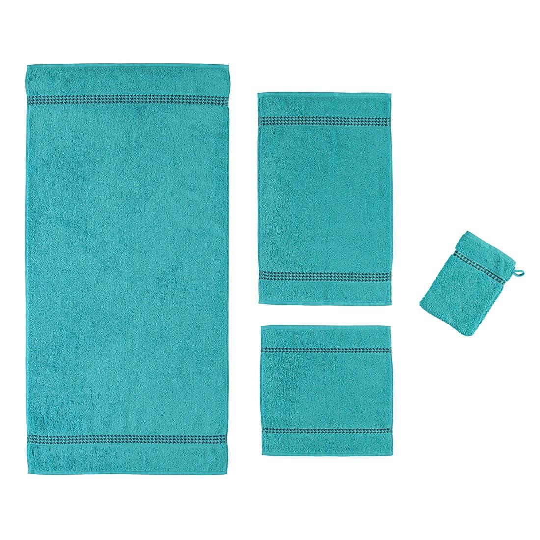 Handtücher Selection Uni 4010 – Baumwolle – Türkis – Handtuch 50×100 cm, Cawö online bestellen