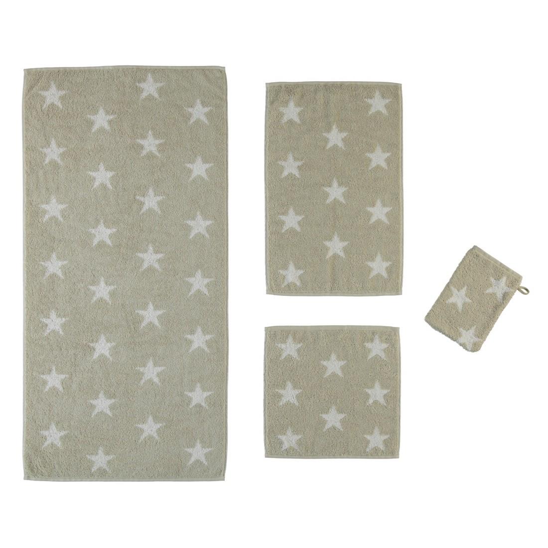 Handtücher   Stars 525 – 100% Baumwolle sand – 36 – Seiflappen: 30 x 30 cm, Cawö online bestellen