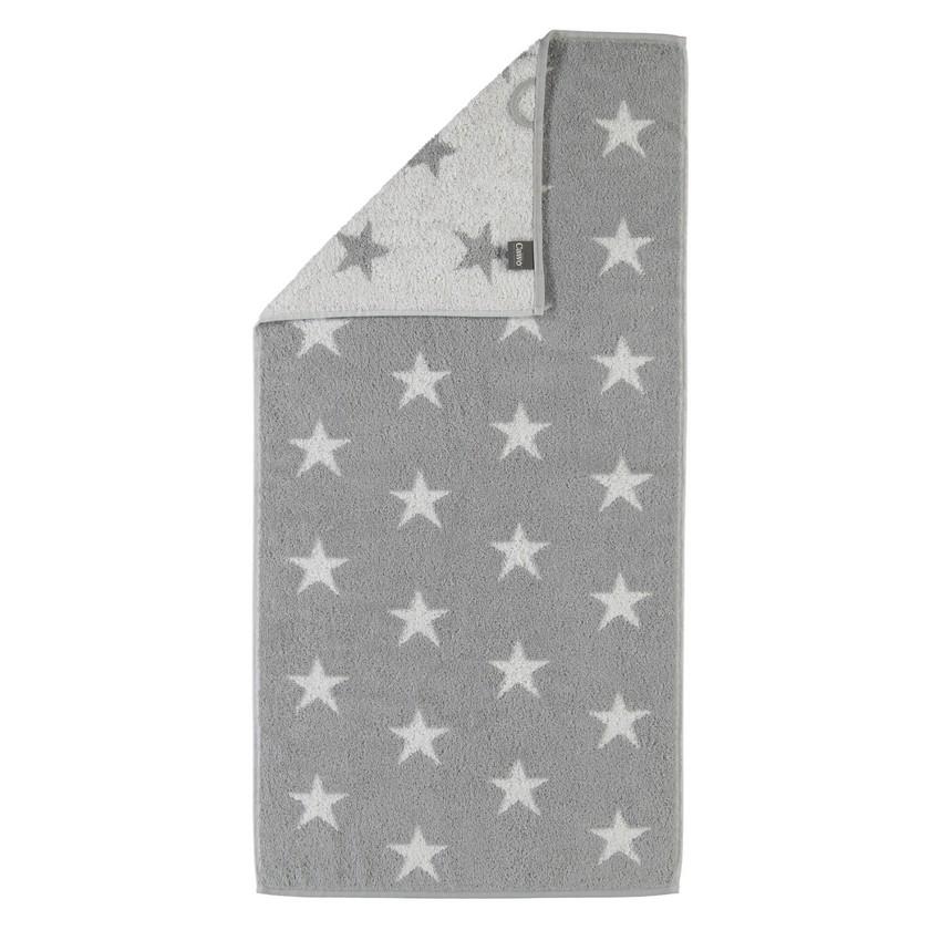 Handtuch Stars 525 – 100% Baumwolle Silber – 76 – Gästetuch 30 x 50 cm, Cawö günstig