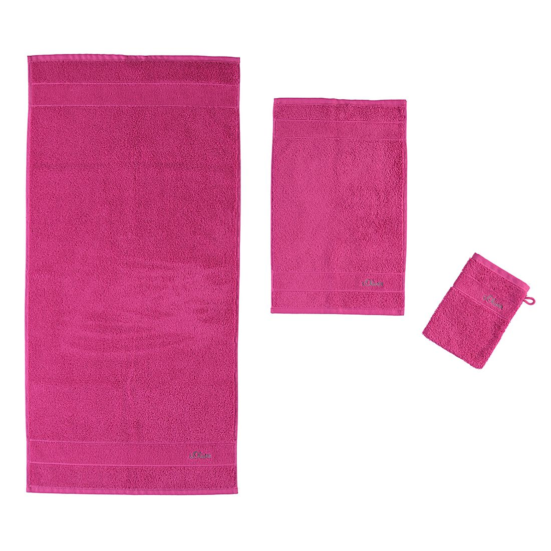 Handtücher Uni 3700 – Baumwolle – Pink – Duschtuch 70×140 cm, s.Oliver online kaufen