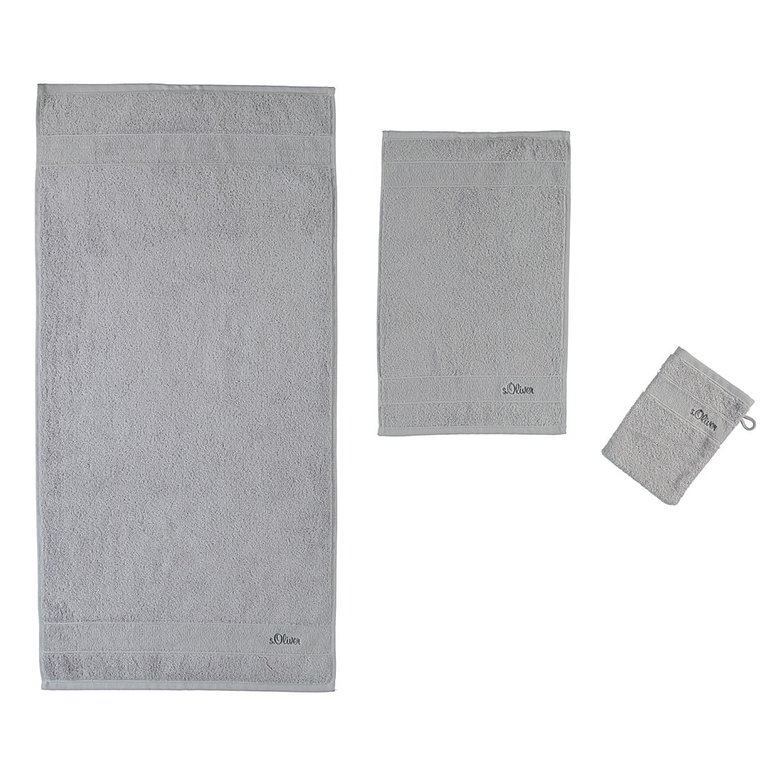 Handtücher Uni 3700 – Baumwolle – Silber – Duschtuch 70×140 cm, s.Oliver günstig kaufen