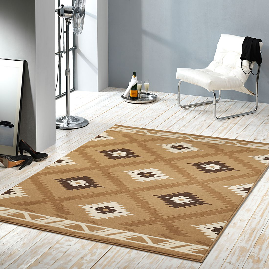 teppich hamla beige 160 x 230 cm hanse home. Black Bedroom Furniture Sets. Home Design Ideas