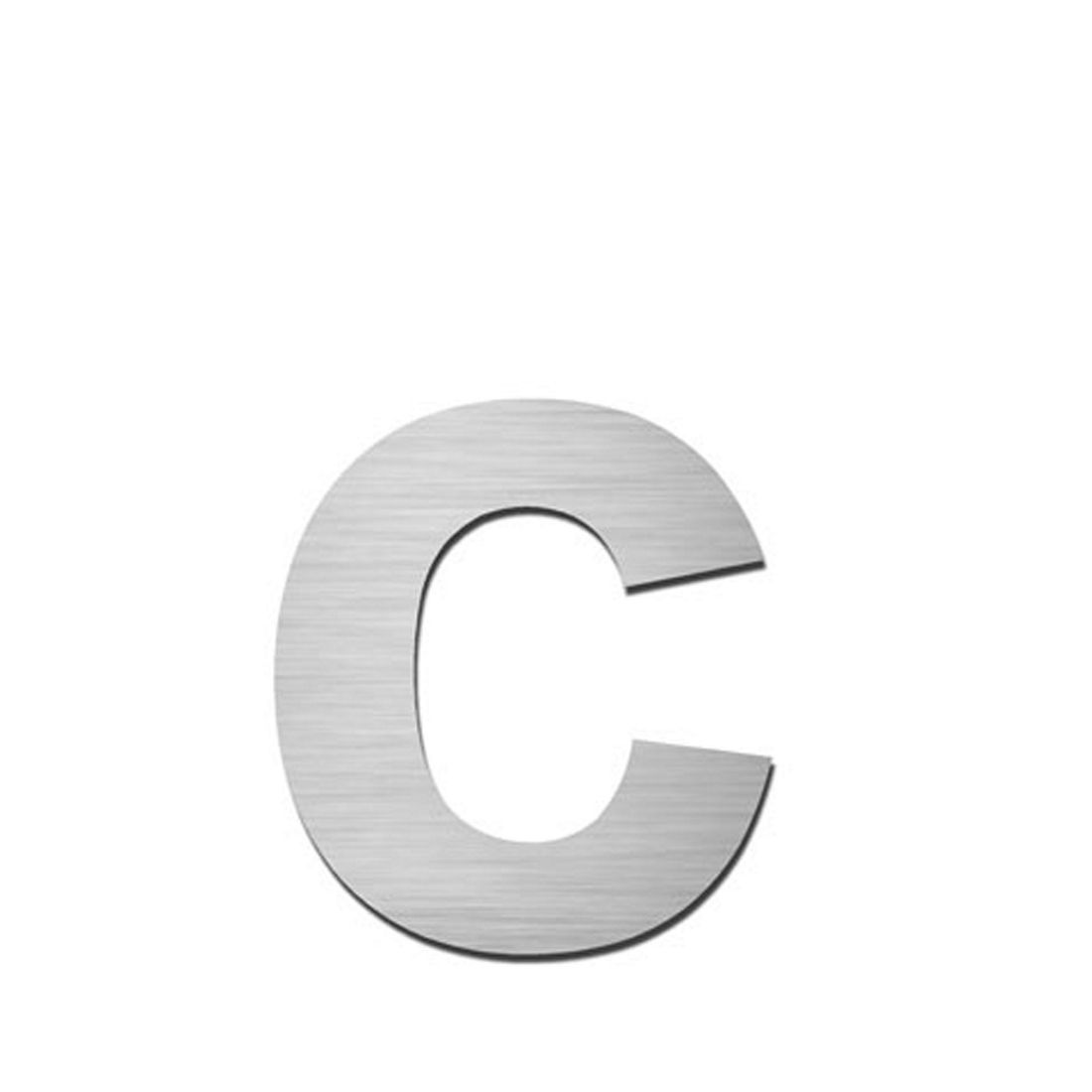 Hausnummer Index zum Aufkleben c - Matt Gebürstet Edelstahl Matt Gebürstet Silber, Serafini