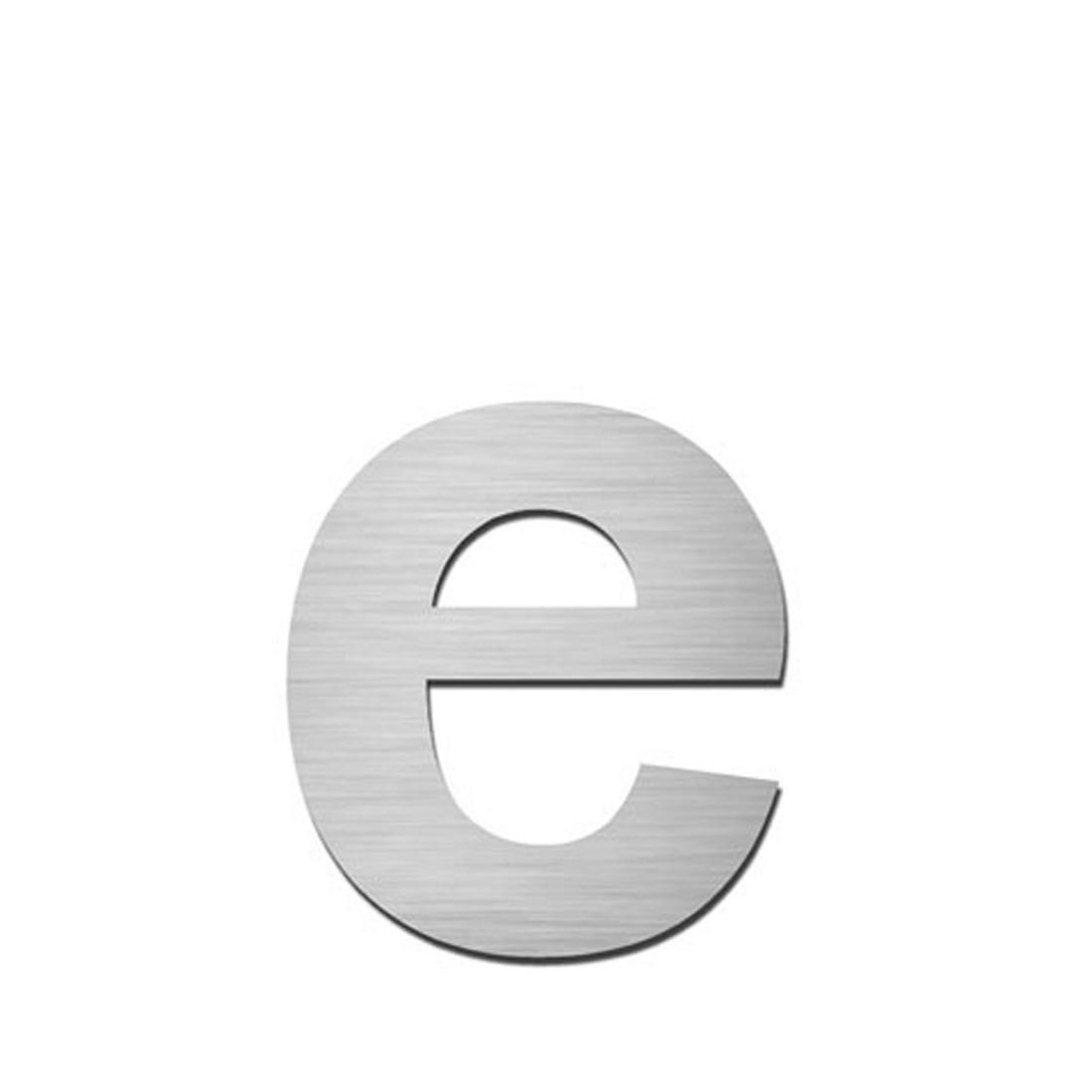 Hausnummer Index zum Aufkleben e - Matt Gebürstet Edelstahl Silber, Serafini