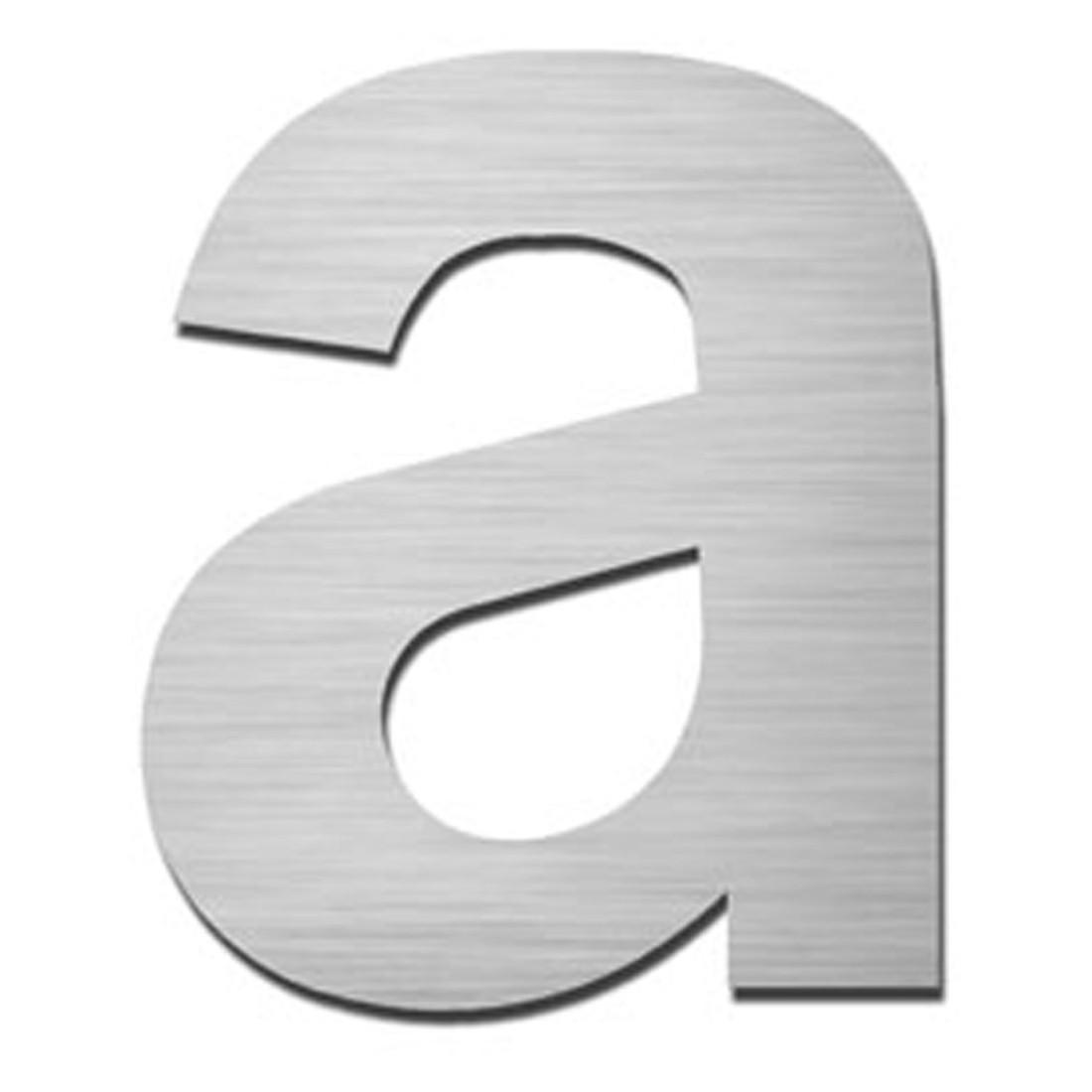 Hausnummer Index zum Aufschrauben a - Matt Gebürstet Edelstahl Silber, Serafini