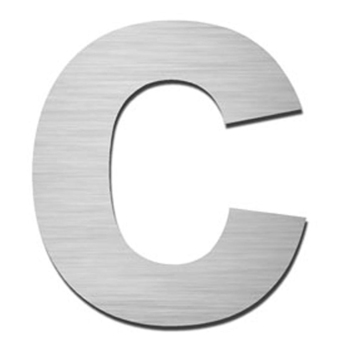 Hausnummer Index zum Aufschrauben c - Matt Gebürstet Edelstahl Matt Gebürstet Silber, Serafini