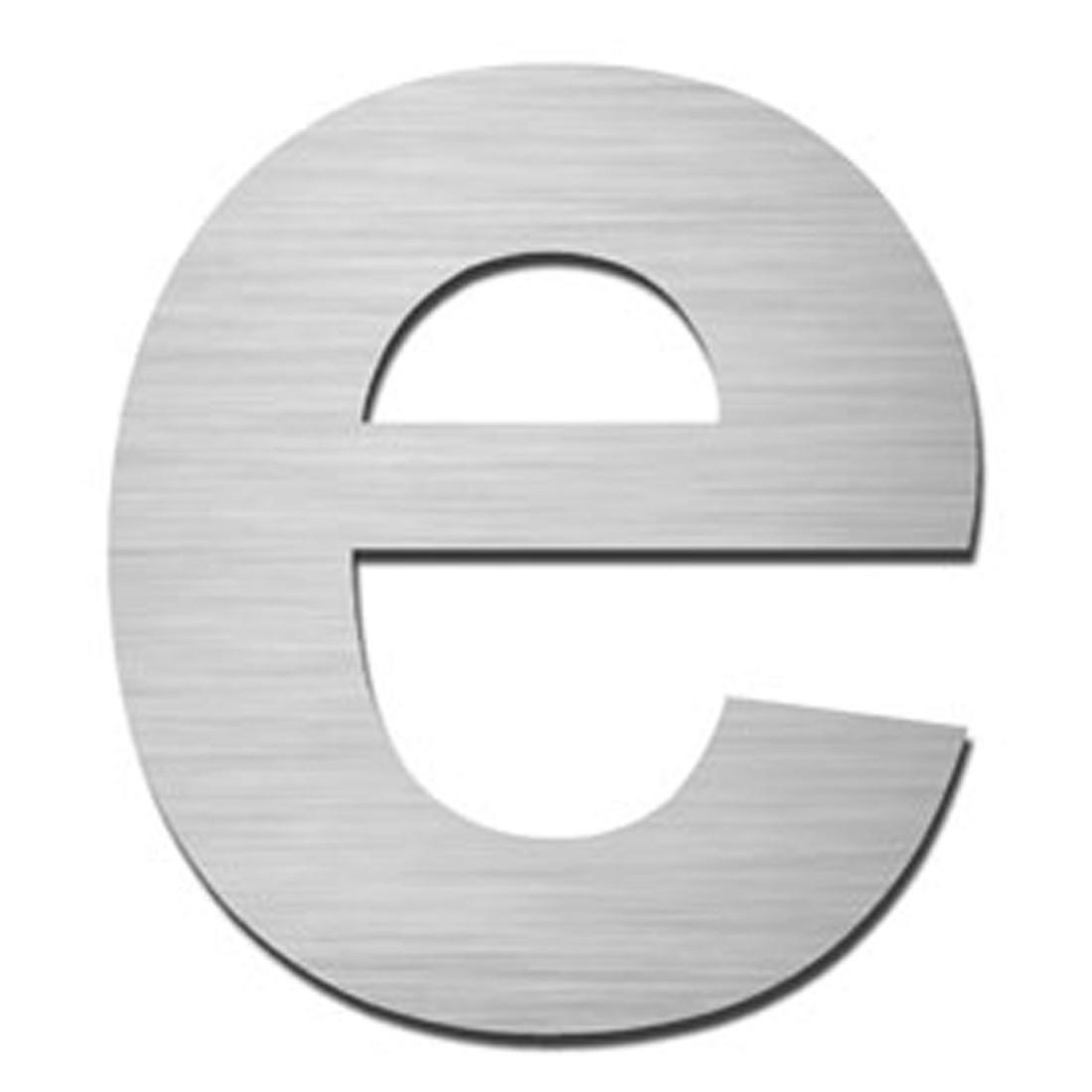 Hausnummer Index zum Aufschrauben e - Matt Gebürstet Edelstahl Silber, Serafini