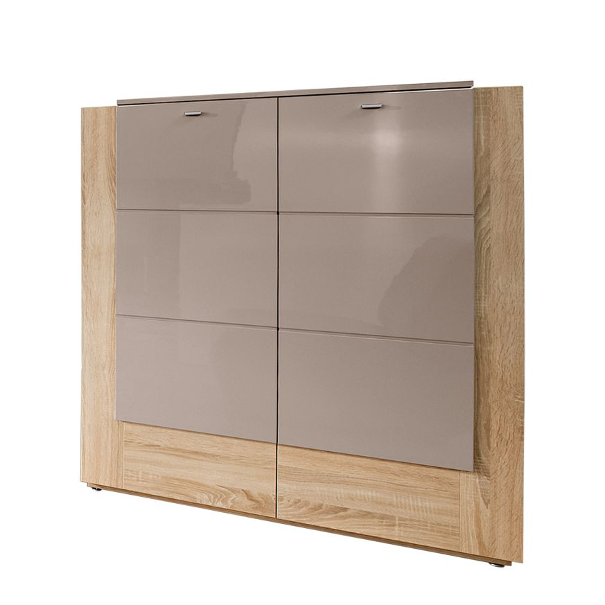 highboard ancona eiche dekor grau hochglanz zwei t ren. Black Bedroom Furniture Sets. Home Design Ideas