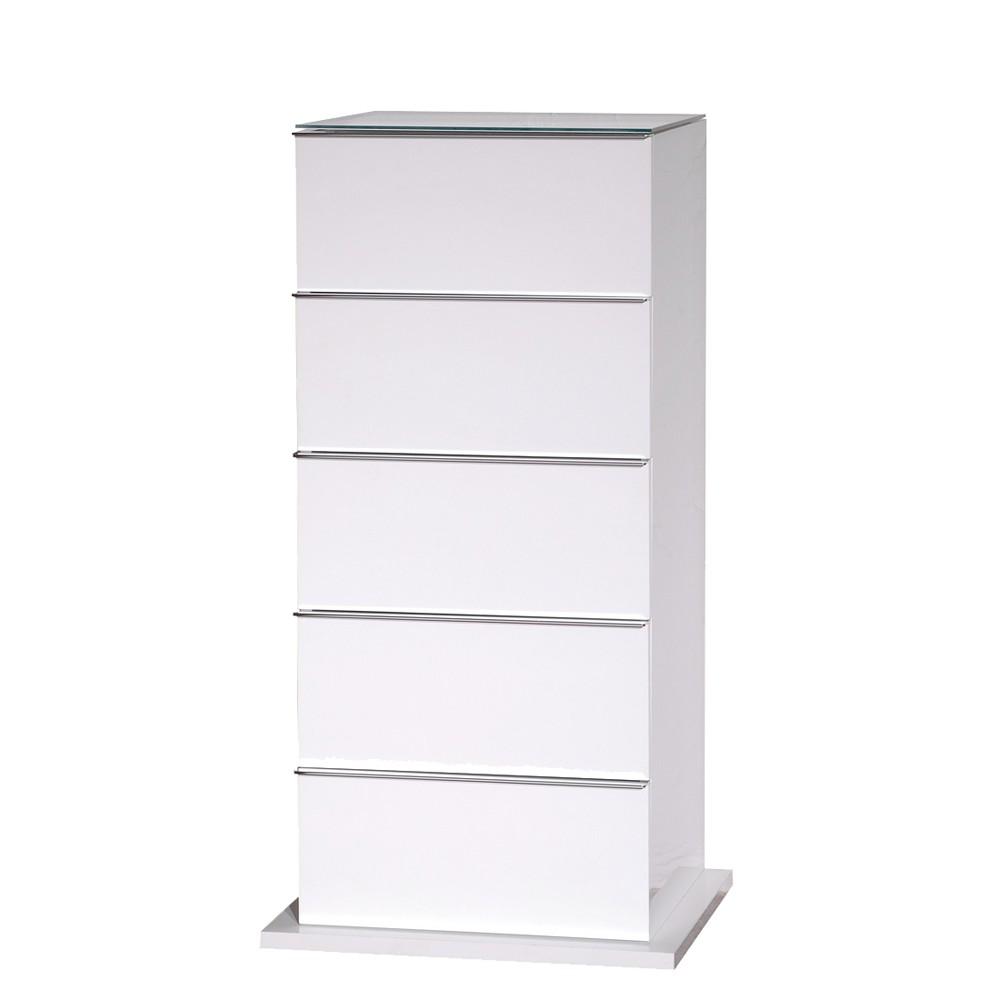 Büroschrank weiß schubladen  Highboard Colado - Weiß Hochglanz - Fünf Schubladen - Schrank.info ...