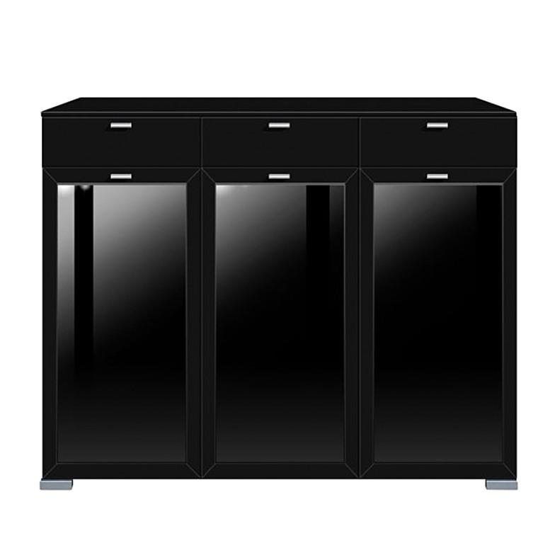 highboard gallery plus schwarz. Black Bedroom Furniture Sets. Home Design Ideas
