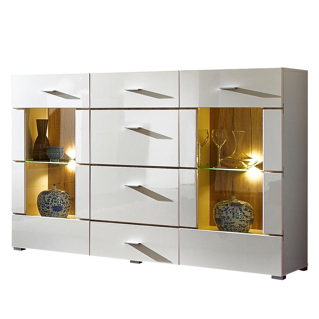 Energie A Dressoir Roomconcept Inclusief Ledverlichting Hoogglans Wit Roomscape in de aanbieding