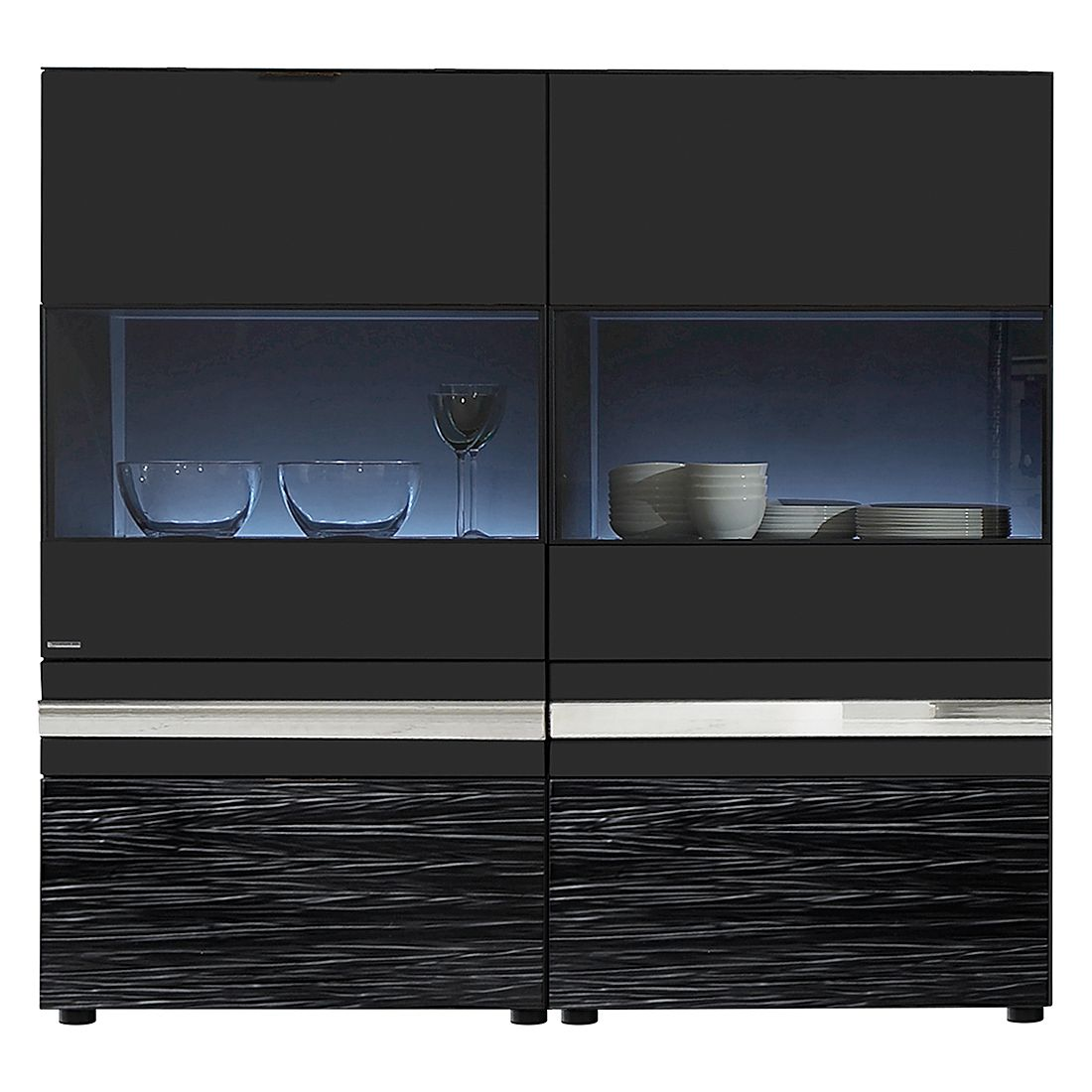 highboard invito mit beleuchtung havanna holtkamp. Black Bedroom Furniture Sets. Home Design Ideas