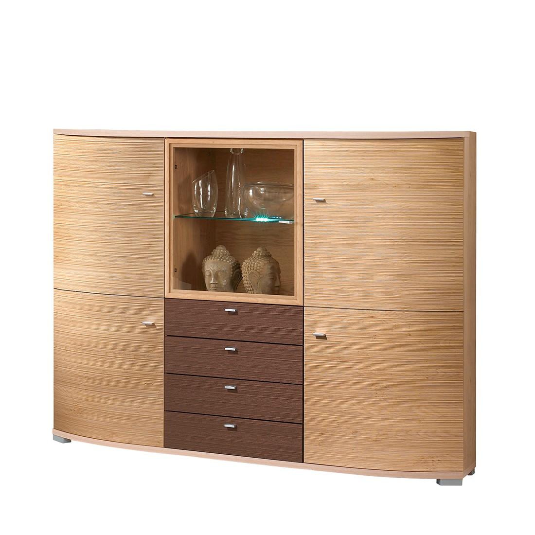 highboard morena wildeiche dekor braun ohne beleuchtung. Black Bedroom Furniture Sets. Home Design Ideas
