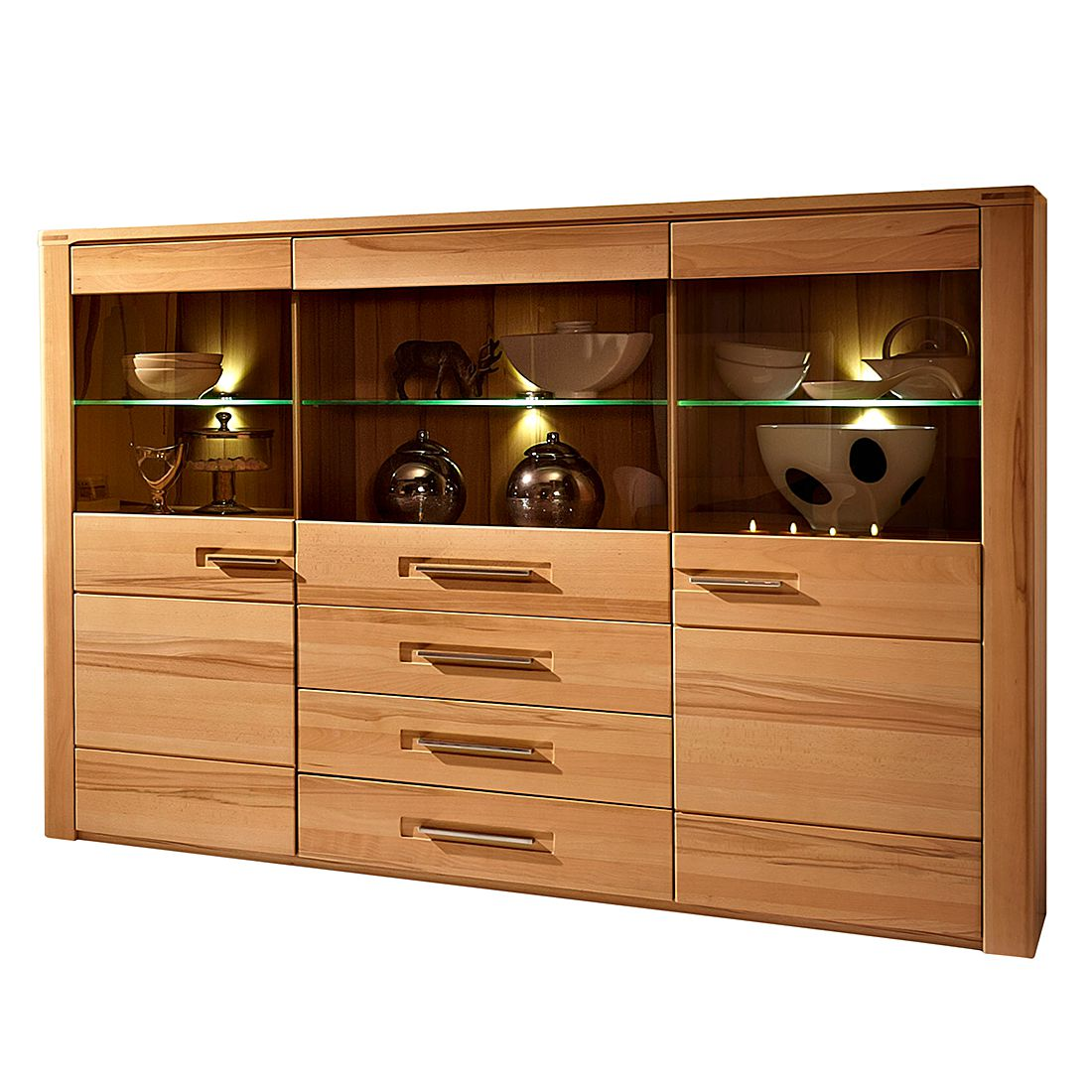 highboard naturestar kernbuche teilmassiv ebay. Black Bedroom Furniture Sets. Home Design Ideas