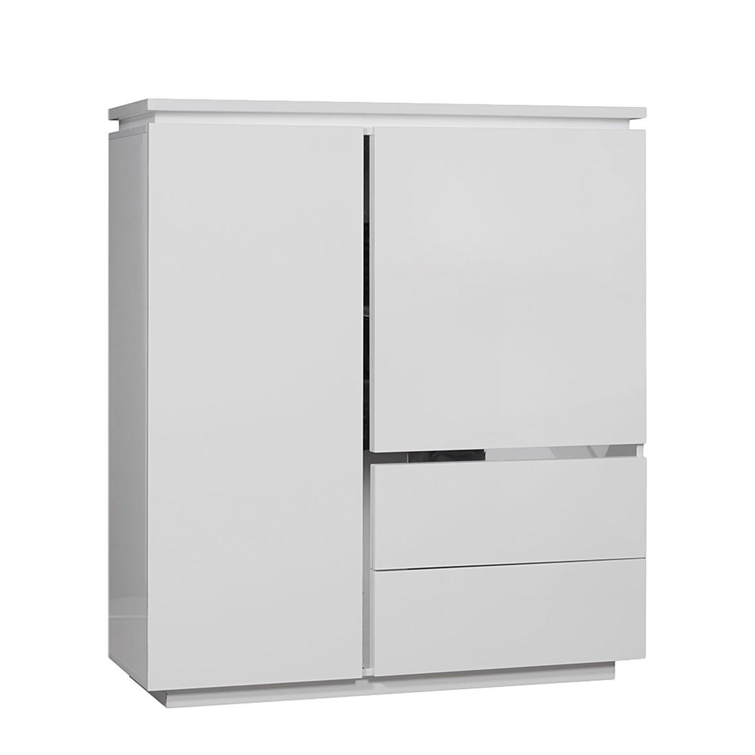 Highboard Oceano - Weiß lackiert - Mit Beleuchtung - Schrank.info ...