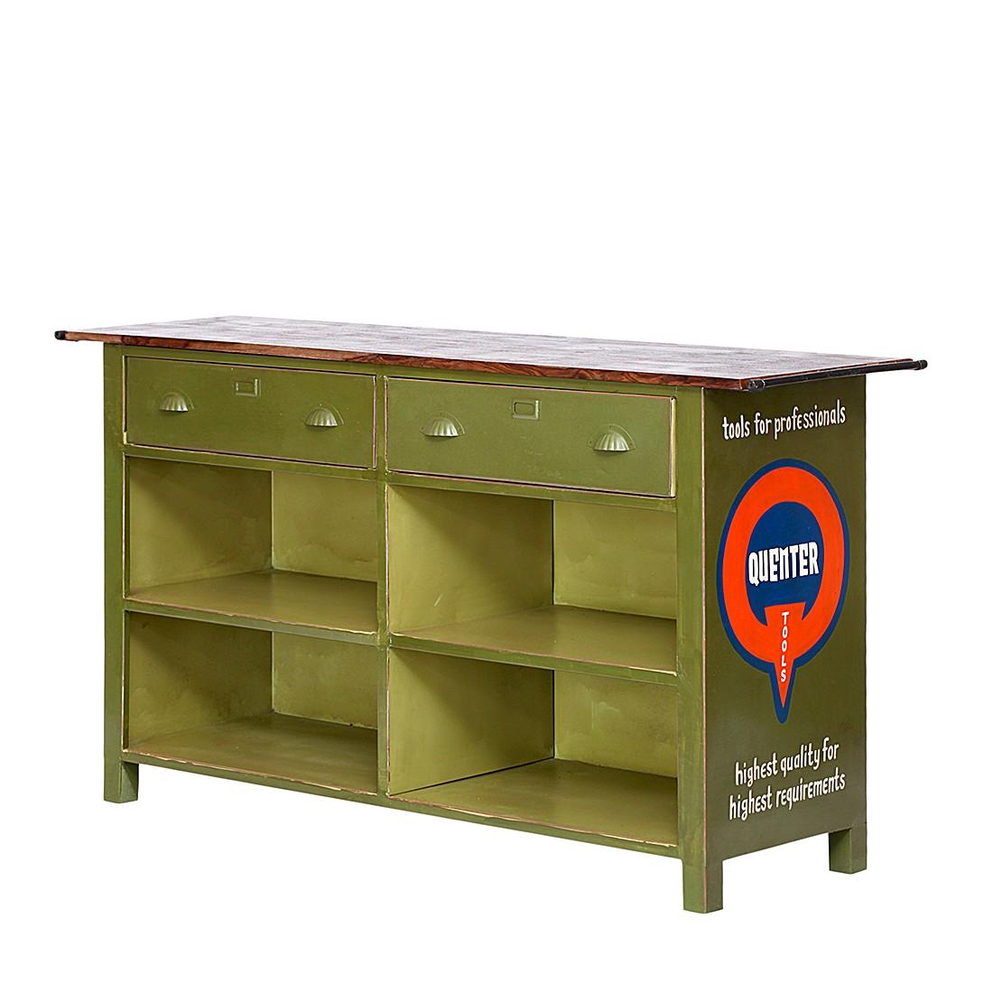 sideboard quenta metall gr n. Black Bedroom Furniture Sets. Home Design Ideas