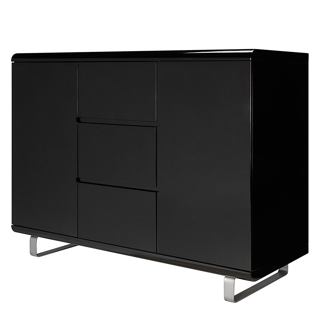 Highboard Spacy II - Hochglanz Schwarz, loftscape