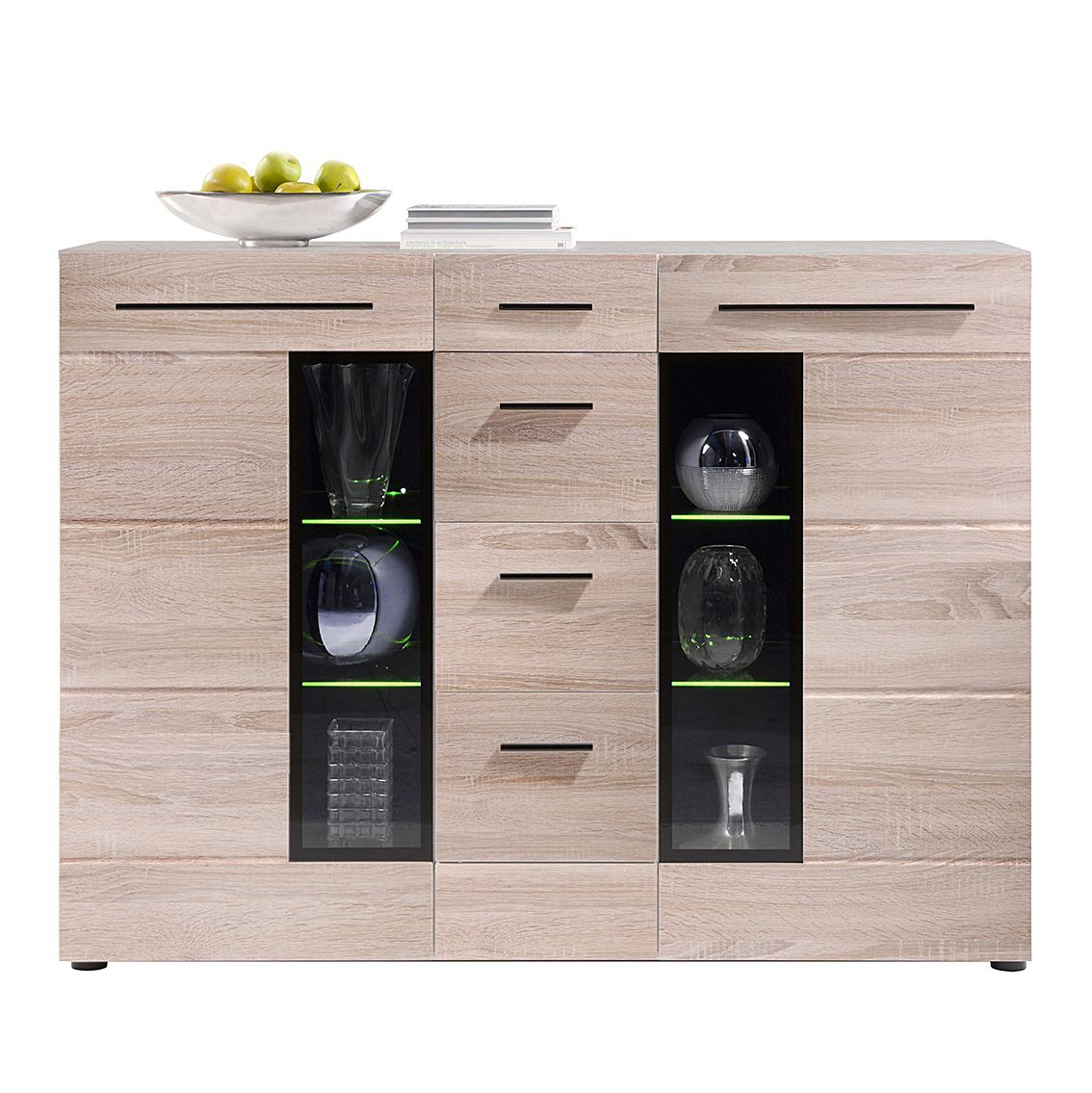 highboard storm i eiche s gerau hell dekor schrank. Black Bedroom Furniture Sets. Home Design Ideas