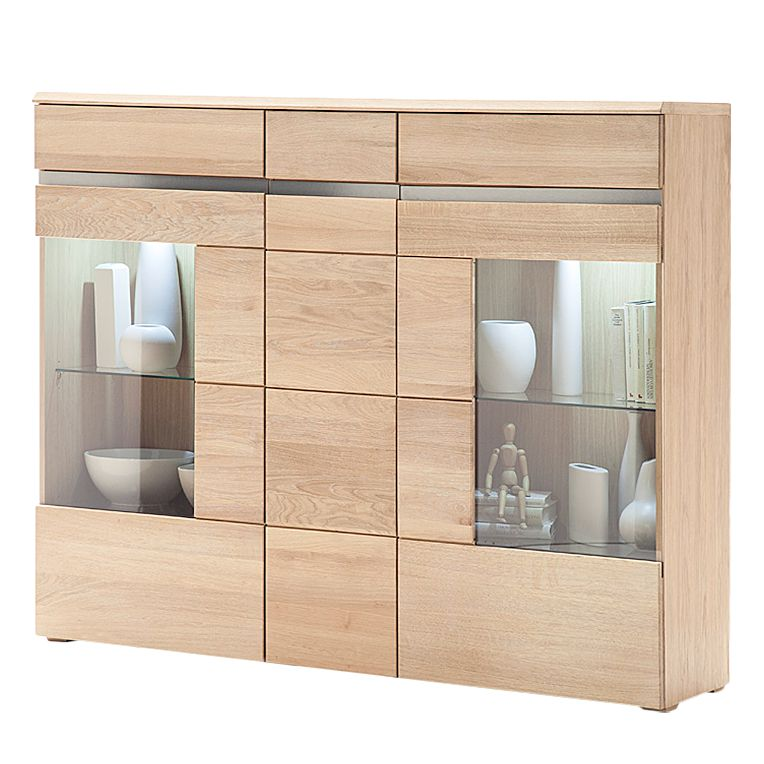 eek a highboard tala ii parsolglas eiche teilmassiv ge lt jung und s hne. Black Bedroom Furniture Sets. Home Design Ideas