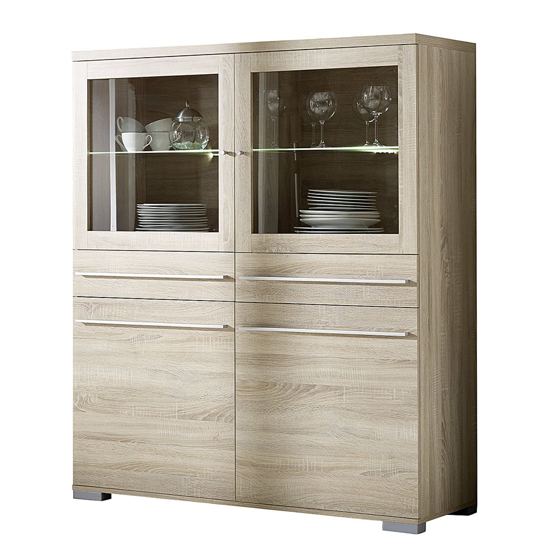 highboard tournai eiche s gerau dekor highboard tournai eiche s gerau dekor mit. Black Bedroom Furniture Sets. Home Design Ideas