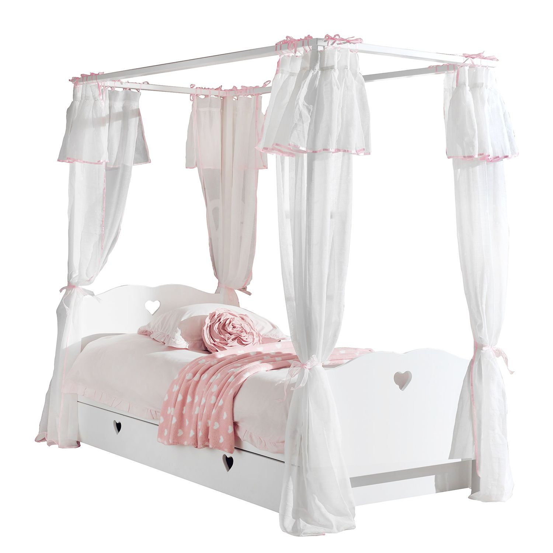 Himmelbett Amori - Weiß - Mit Bettkasten, Vipack