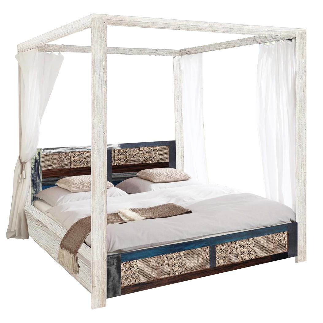 Slapen hemelbed cabana   massief populierenhout   160x200cm kare ...