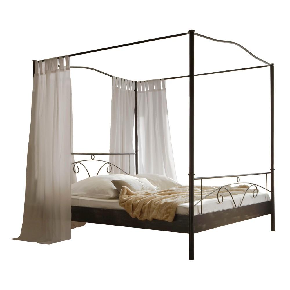 himmelbett metall schwarz inspiration. Black Bedroom Furniture Sets. Home Design Ideas