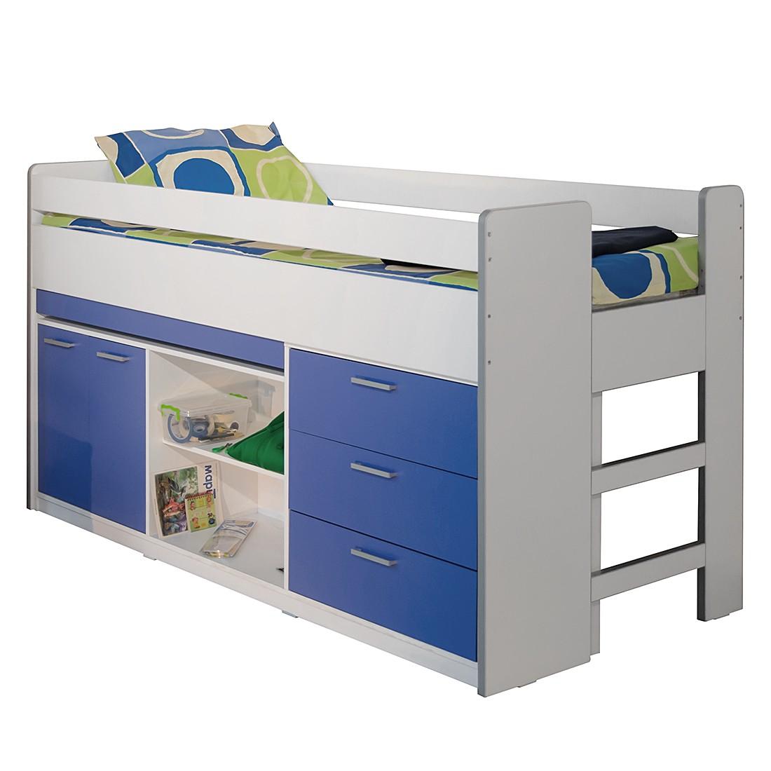 hochbett bonny wei blau relita g nstig kaufen. Black Bedroom Furniture Sets. Home Design Ideas