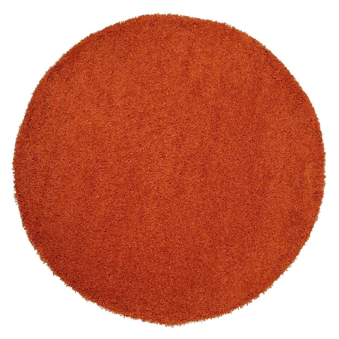 Hochflor Teppich Cambria – Polypropylen – Orange – ø 80 cm rund, benuta online kaufen