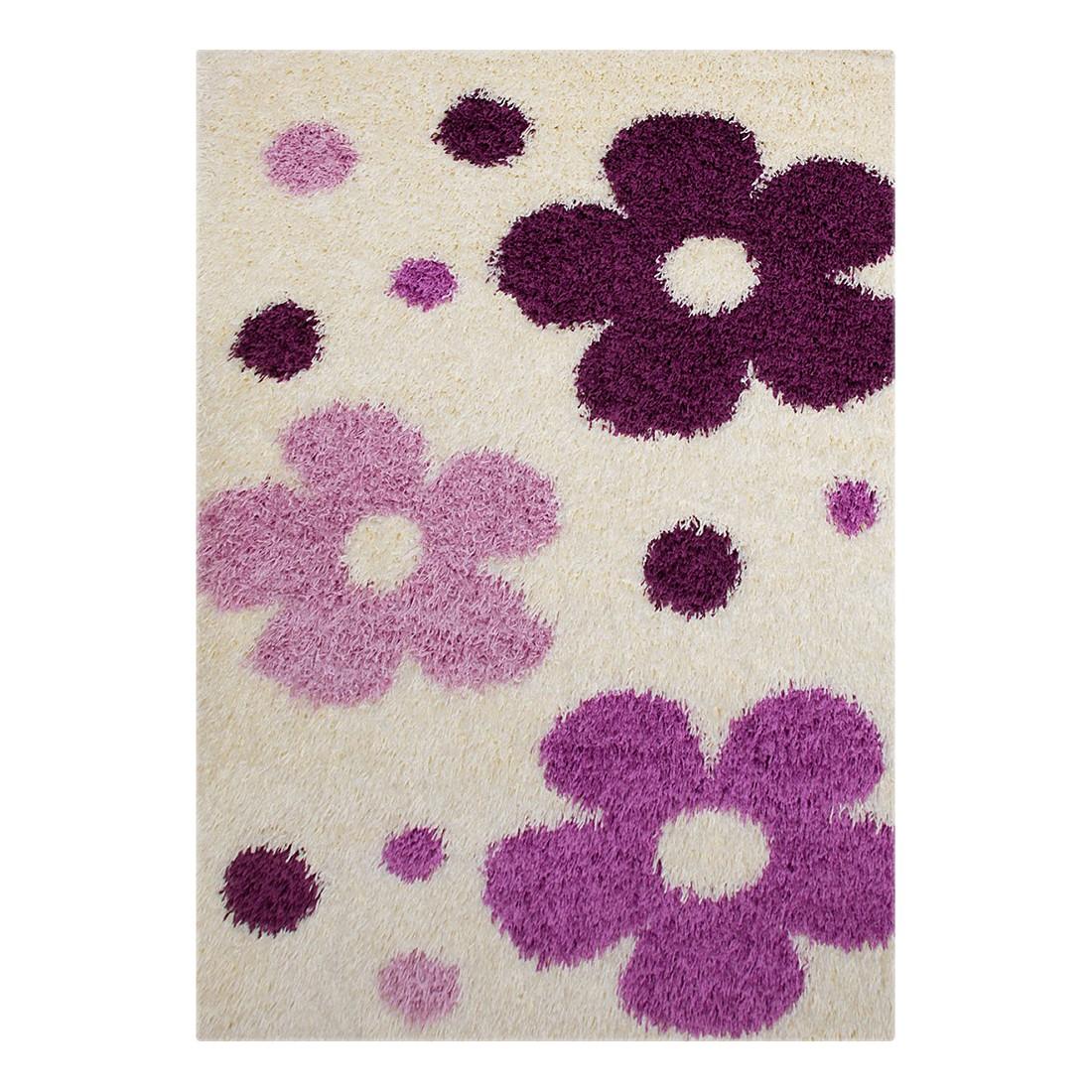 Hochflorteppich Neapel Blumen – Creme – 160 x 230 cm, Testil kaufen