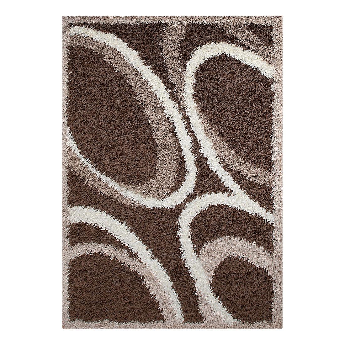 Hochflorteppich Neapel Kreise – Braun – 160 x 230 cm, Testil kaufen
