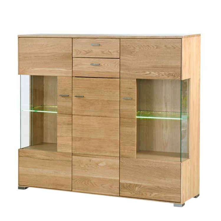 hochkommode bavari eiche massiv naturbelassen. Black Bedroom Furniture Sets. Home Design Ideas