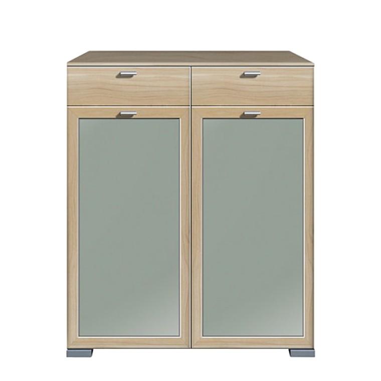hochkommode gallery 2 t rig floatglas noce. Black Bedroom Furniture Sets. Home Design Ideas