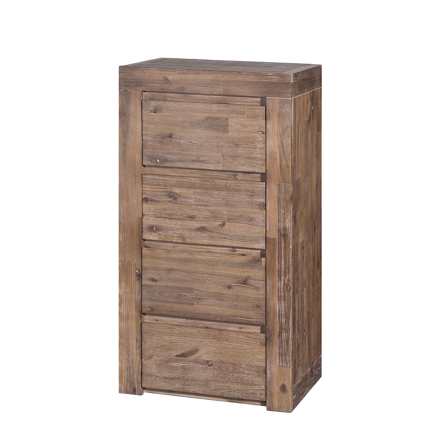 Hoge commode San Marcos - massief acaciahout, Neue Modular