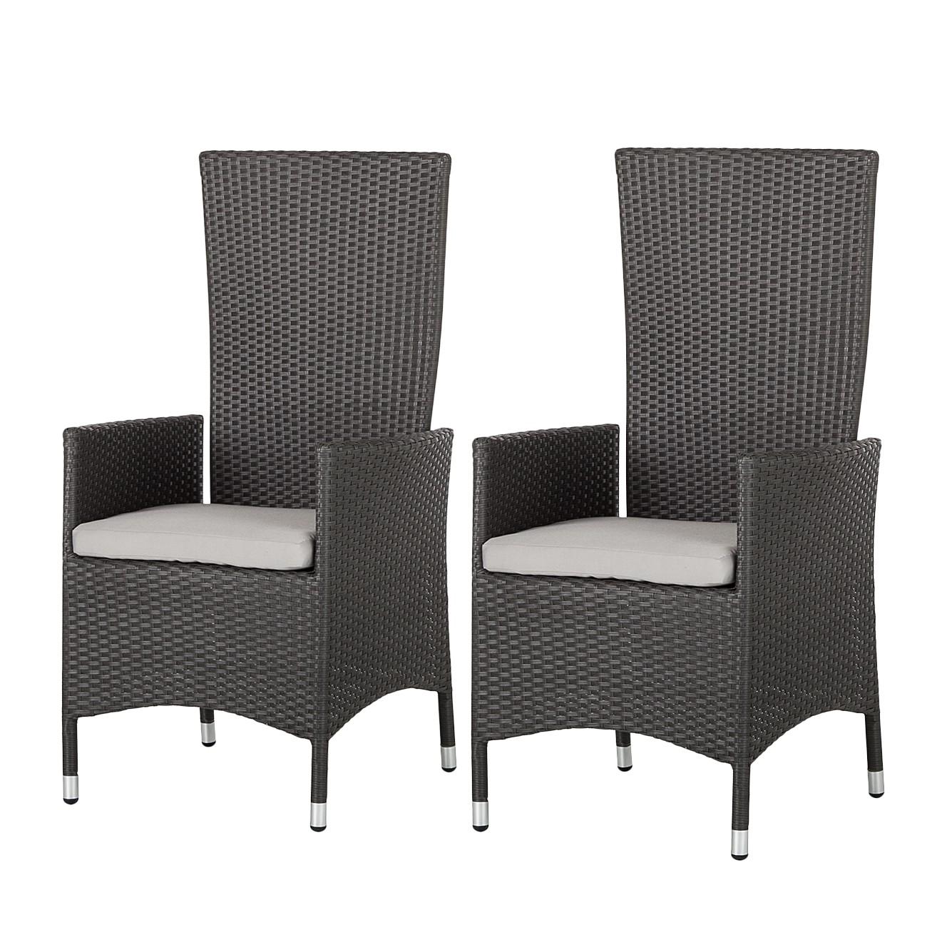 hochlehner paradise gismo 2er set polyrattan grau ebay. Black Bedroom Furniture Sets. Home Design Ideas