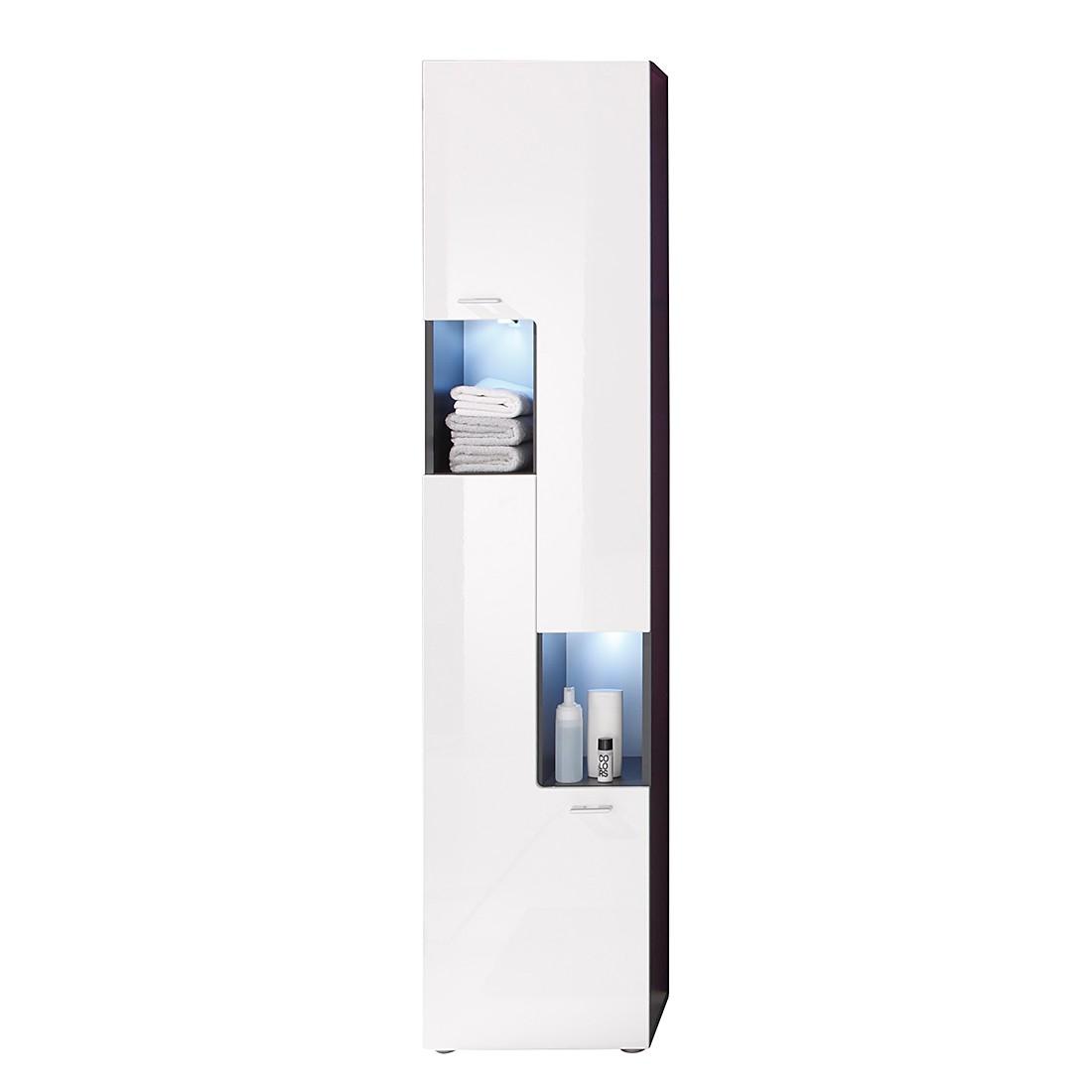 Hochschrank Angulo II – Graphit Dekor/Weiß – ohne Unterbauspots, California günstig online kaufen
