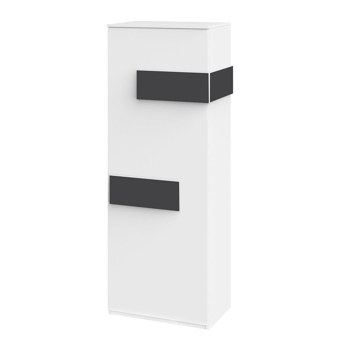 Hochschrank HiLight – Weiß / Anthrazit – 51 cm (1-türig) – Türanschlag links – 144 cm, röhr günstig kaufen