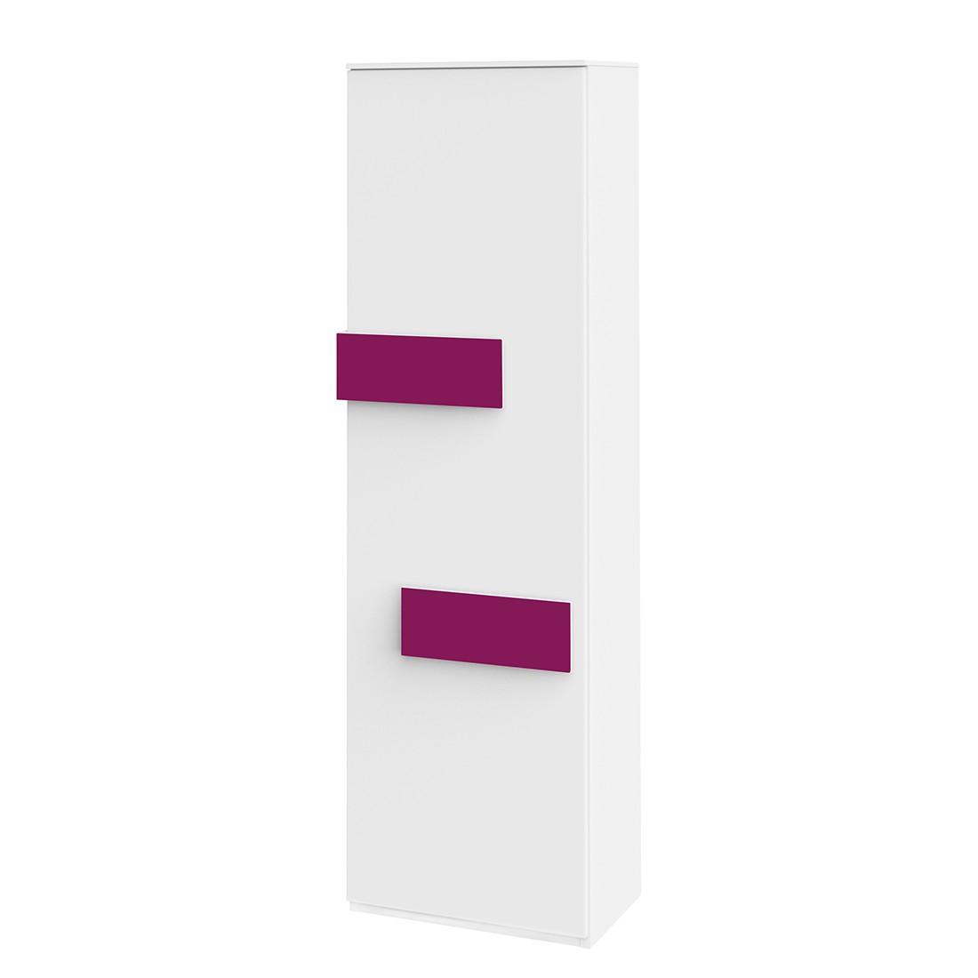Hochschrank HiLight – Weiß / Pink – 51 cm (1-türig) – Türanschlag rechts – 179 cm, röhr bestellen