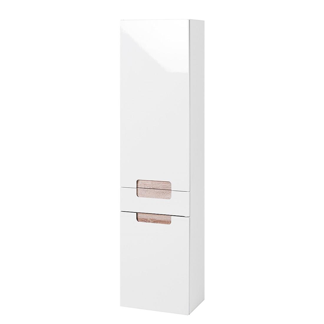 Hochschrank Laris – Hochglanz Weiß/Eiche Sonoma Dekor, Giessbach günstig online kaufen