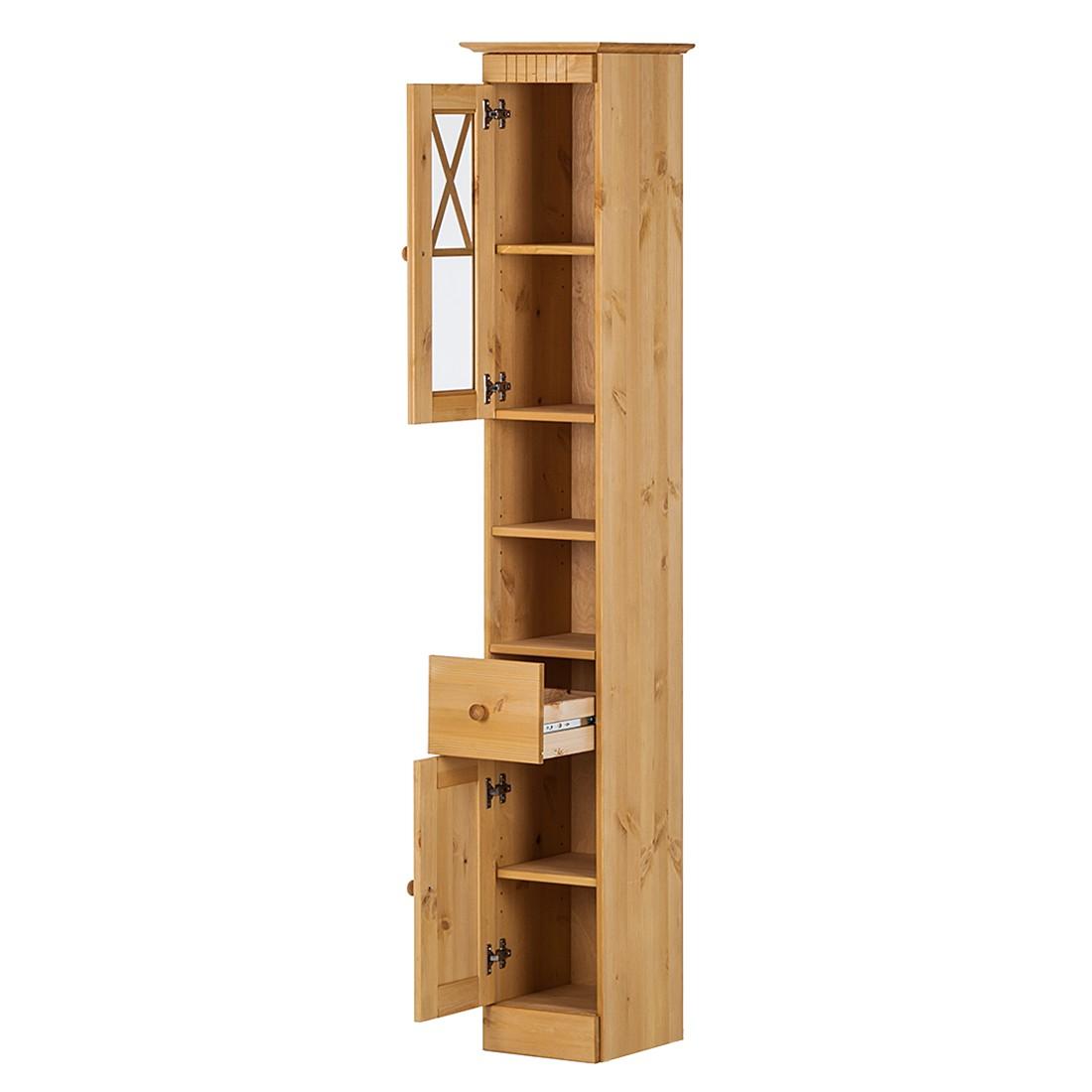 hochschrank senna kiefer massiv gebeizt gewachst kommode sideboard anrichte ebay. Black Bedroom Furniture Sets. Home Design Ideas