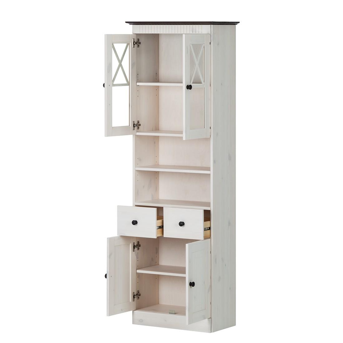 hochschrank senna ii kiefer massiv wei kommode sideboard highboard anrichte ebay. Black Bedroom Furniture Sets. Home Design Ideas