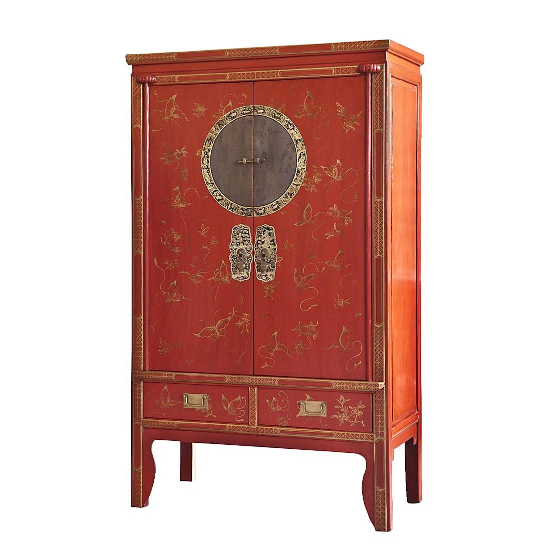 Hochzeitsschrank Jinan I - Pappel massiv/Rot lackiert, ars manufacti
