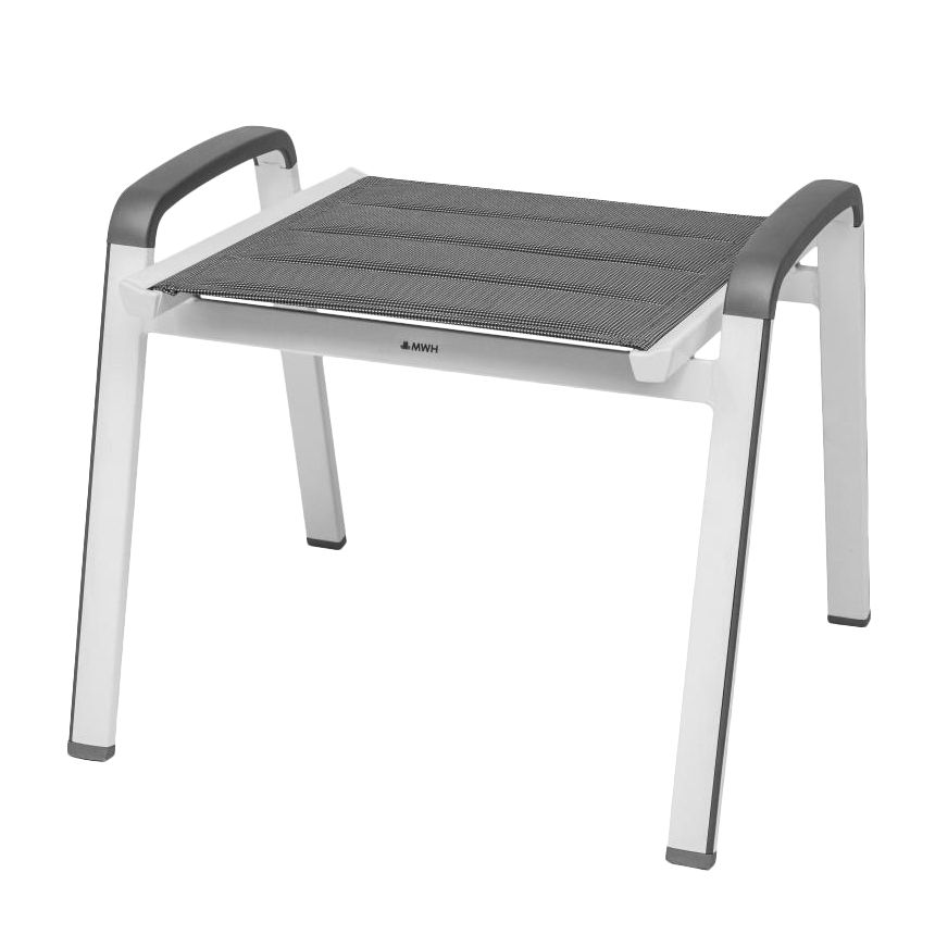 Hocker Futosa II - Aluminium - Grau, Mwh