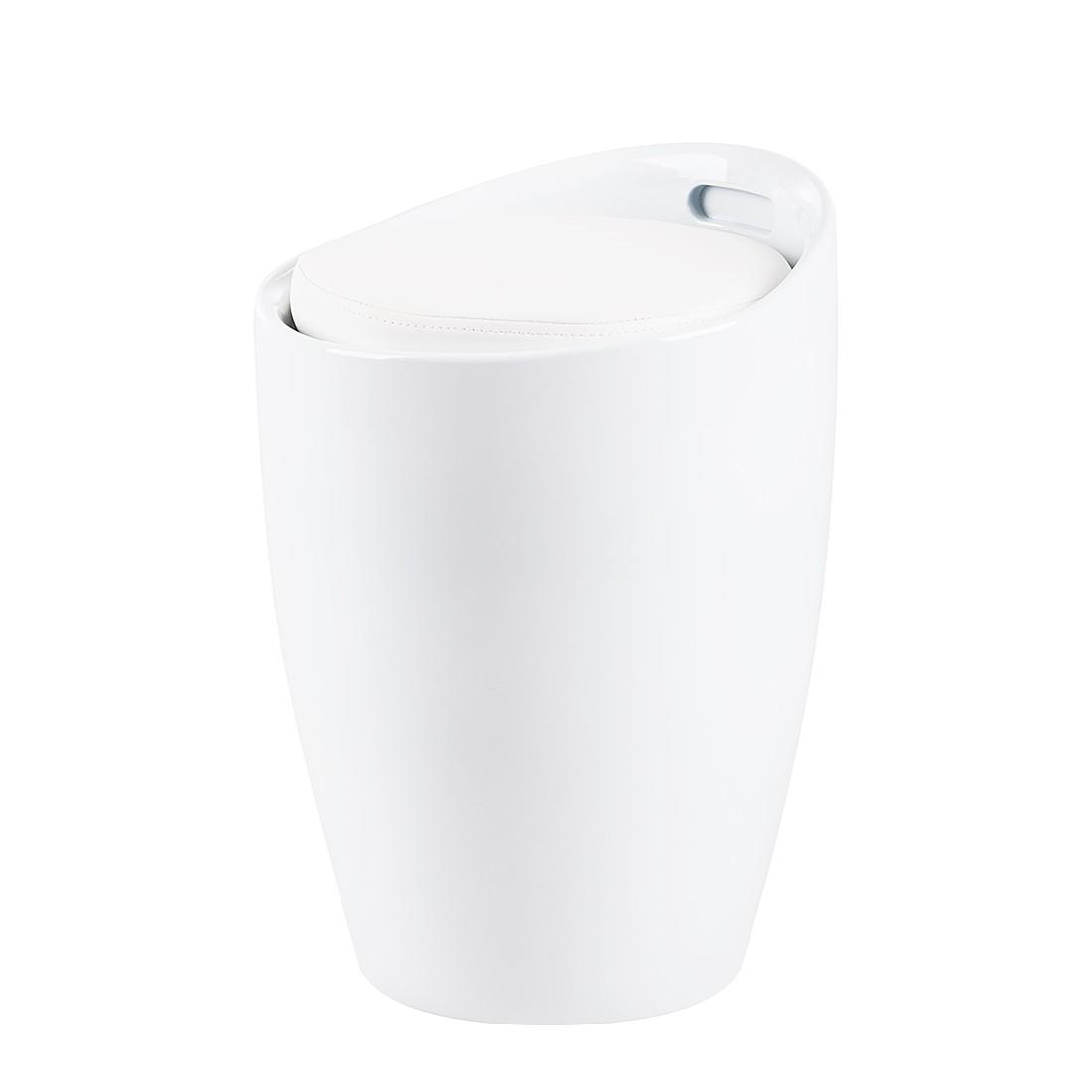 Hocker Honolulu – Kunststoff/Kunstleder – Weiß/Weiß, Fredriks jetzt kaufen