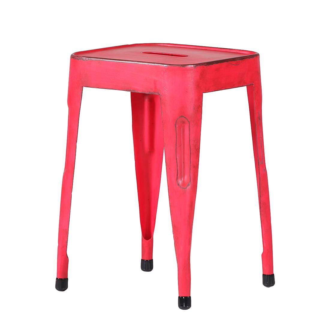 Hocker Lado – Rot lackiert, furnlab günstig bestellen